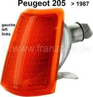 P 205, Blinkerkappe vorne links bis 1987. Peugeot 205. - 75219 - Der Franzose