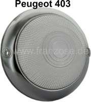 P 403, Blinkerkappe mit Chromrand vorne, klar,  Durchmesser 11,5cm - 74006 - Der Franzose