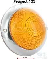 P 403, Blinkerkappe mit Chromrand vorne, orange,  Durchmesser 11,5cm - 74005 - Der Franzose