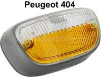 P 404, Blinkerkappe (Standicht) vorne,  weiß-orange, Rahmen silber - 74270 - Der Franzose