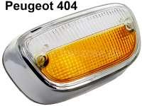 P 404, Blinkerkappe (Standlicht) weiß-orange.  Rahmen ist verchromt. Noch brauchbarer Nachbau aus Südamerika. Mit Prüfzeichen! - 74298 - Der Franzose