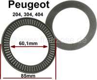 P 204/304/404, Nadellager Federbein oben (Domlager). Aussendurchmesser: 85mm. Innendurchmesser: 60,1mm. Dicke: 3,6mm. Passend für Peugeot 204, 304 + 404. - 73083 - Der Franzose