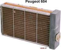 P 604, Heizungskühler (original Chausson). Passend für Peugeot 604. Or. Nr. 644837. New Old Stock (NOS). - 72395 - Der Franzose