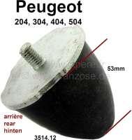 P 204/304/404/504, Hinterachse Gummianschlag. Durchmesser: 55mm. Höhe: 53mm. Passend für Peugeot 204, 304, 404, 504. Or. Nr. 3514.12 - 73030 - Der Franzose
