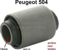 P 504, Silentbuchse Triangel Hinterachse. Durchmesser innen: 14mm. Außendurchmesser: 29mm. Länge innen: 44mm. Länge außen: 32mm. Passend für Peugeot 504. Or. Nr. 3523.12 - 73372 - Der Franzose