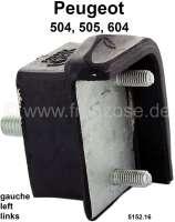 P 504/505/604, Aufnahme (Halterung) Hinterachse, links (Gummi-Metallhalter). Abmessung: 45 x 69 x 44mm. Passend für Peugeot 504, 505, 604. Or. Nr. 5152.16 - 73385 - Der Franzose