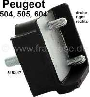 P 504/505/604, Aufnahme (Halterung) Hinterachse, rechts (Gummi-Metallhalter). Abmessung: 45 x 69 x 44mm. Passend für Peugeot 504, 505, 604. Or. Nr. 5152.17 - 73386 - Der Franzose
