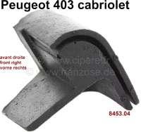P 403, Gummidichtung Ecke (Gummikappe), rechts vorne am Verdeck. Passend für Peugeot 403 Cabriolet. Or. Nr. 8453.04 - 78826 - Der Franzose