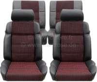 P 205, Sitzbezüge Satz (2x Sitz vorne, 1x Sitzbank hinten). Farbe: Leder schwarz mit Stoff (Tissue Quartet). Passend für Peugeot 205 GTI - 78107 - Der Franzose