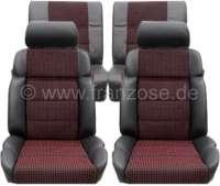 P 205, Sitzbezüge Satz (2x Sitz vorne, 1x Sitzbank hinten). Farbe: Leder schwarz mit Stoff (Tissue Quartet). Passend für Peugeot 205 CTI - 78108 - Der Franzose