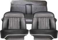 P 404C, Sitzbezüge (2x Sitz vorne, 1x Sitzbank hinten). Farbe: Kunstleder schwarz. Passend für Peugeot 404 Coupe. - 78094 - Der Franzose