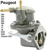 Benzinpumpe Peugeot mit Handhebel! Komplett aus Metall gefertigt. Passend für Peugeot 203, 403, 404, 504, 505 GL/GR/SR, D3A, D4A, J5, J7, J9, Jeep P4, Citroen C25. - 72906 - Der Franzose
