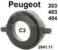 P 203/403/404, Ausrücklager wie Original (mit Graphitring). Passend für Peugeot 203. 403 + 404 mit C3 Getriebe. Durchmesser Graphitring: 60mm. Innendurchmesser Graphitring: 35mm. Gesamtbreite: 96mm. Das Ausrücklager wird in einer verstärkten Version geliefert. Or. Nr. 2041.11. Achtung: Unbedingt das Kupplungsspiel neu einstellen! Peugeot Arbeitsanweisung 2/0101-0102 + 2/0201 + 2/0401 > 0405. - 72552 - Der Franzose
