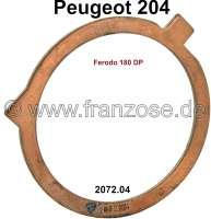 P 204, Anlaufscheibe Kupplung, Kupplungsseitig. Passend für Peugeot 204. Or. Nr. 2072.04 (Kupplung Ferodo 180 DP) - 71370 - Der Franzose