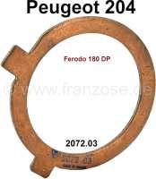 P 204, Anlaufscheibe Kupplung, Motorseitig. Passend für Peugeot 204. Or. Nr. 2072.03 (Kupplung Ferodo 180 DP) - 71368 - Der Franzose