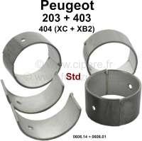 P 203/403/404 Pleuellager (kompletter Satz) für Benzin Motoren mit 3 Kurbelwellenlager. Abmessung: Standardmaß. Durchmesser Kurbelwelle: 44,975 bis 44,991mm. Breite: 27mm. Passend für Peugeot 203 (alle Motoren). Peugeot 403 (alle Benziner). Peugeot 404 erste Serie (8CV), Motor XC + XB2 (404 U6). Or. Nr. 0606.14 + 0606.01. - 71185 - Der Franzose