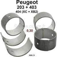 P 203/403/404 Pleuellager (kompletter Satz) für Benzin Motoren mit 3 Kurbelwellenlager. Abmessung: 0,30 Übermaß. Durchmesser Kurbelwelle: 44,675 bis 44,691mm. Breite: 27mm. Passend für Peugeot 203 (alle Motoren). Peugeot 403 (alle Benziner). Peugeot 404 erste Serie (8CV), Motor XC + XB2 (404 U6). Or. Nr. 0606.15 - 71186 - Der Franzose