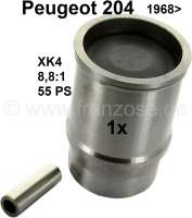 P 204, Kolben + Zylinder (per Stück). Passend für Peuggeot 204, ab Baujahr 1968. Motor: XK4. Verdichtung: 8,8:1. Hubraum: 1130ccm. Bohrung: 75mm. 55PS. Der Motorblock ist einteilig! - 71172 - Der Franzose