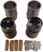 P 304, Kolben + Zylinder (4 Stück). Passend für Peugeot 304, von Baujahr 09/1970 bis 10/1975. Peugeot 304S, von Baujahr 09/1972 bis 10/1975. Motor XL3 XL3S, zweite Generation. Bohrung: 76mm. Hubraum: 1288ccm. Kolbenringe: 1,75 + 2,0 + 4,0mm. Kolbenhöhe: 73,5mm. Kolbenbolzen: 20,5 x 63mm. Höhe Laufbuchse gesamt: 128,00mm. - 71254 - Der Franzose