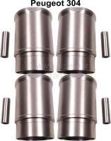P 304, Kolben + Zylinder (4 Stück). Passend für Peugeot 304, 304S, ab Baujahr 10/1976. Motor: XL5/S. Verdichtung: 8,8:1. Hubraum: 1290ccm. Bohrung: 78mm. Kolbenbolzen: 20,50 x 68mm. Kolbenhöhe: 72,0mm. Gesamthöhe Zylinder: 133,0mm. Kolbenringe: 1,75 + 2,0 + 4,0mm. - 71147 - Der Franzose