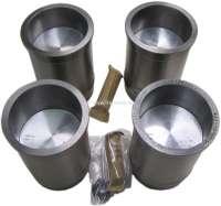 P 403/404/J7, Kolben + Zylinder (4 Stück). Passend für Peugeot 403 (8CV), von Baujahr 1955 bis 1961. Peugeot 404 U6 Commerciale (8CV). Peugeot J7 B 1400kg. Hubraum: 1468ccm. Bohrung: 80,0mm. Kolbenbolzen: 22 x 67mm. Kolbenringe: 2,0 + 2,0 + 4,5 + 4,5mm (4 Ringe). Gesamtlänge der Zylinder: 140mm. - 72156 - Der Franzose