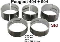 P 404/504, Kurbelwellenlager, Standardmaß. Passend für Peugeot 404 (1967 - 1971). Peugeot 504 (03/1971 - 10/1971). Peugeot 505 (09/1980 - 10/1981). J5 (03/1980 - 10/1981). J7 (09/1968 - 03/1980). Für Motoren: XC5P, XC6, XC7, XC7P, XM7P, XN1, XN1P. 1618cc, 1796cc, 1971cc. Or. Nr. 0113.15, 0113.17, 0113.18. - 71155 - Der Franzose