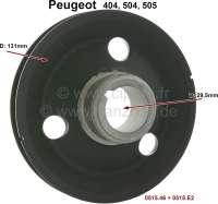 P 404/504/505, Riemenscheibe auf der Kurbelwelle. Passend für Peugeot 404, 504, 505. Or. Nr. 0515.46 + 0515.E2. Durchmesser: 13,10cm. Aussendurchmesser der Rückförderschnecke: 45,35mm. - 71064 - Der Franzose