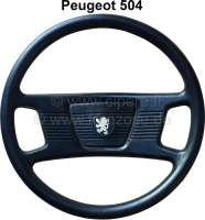 P 504, Lenkrad (letze Version?), kpl. Kunststoff schwarz. Passend für Peugeot 504. -2 - 73653 - Der Franzose
