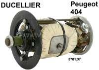 Gleichstrom Lichtmaschine (Ducellier) Reparatur Satz. Passend für Peugeot 404 (Or. Nr. 5701.37). Bestehend aus: Lagerdeckel vorne + hinten. Rotor, Kohlen. Die Feldwicklung ist incl. Metallkern. Beinhaltet folgende Or. Nr. 5720.14, 5733.03, 5728.28, 5724.01, 5745.02, 5721.11, 6976.03, 4051.03, 5747.01, 6953.10, 5746.03, 5724.11. Original Ducellier (NOS), kein Nachbau! - 73004 - Der Franzose