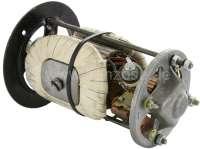 Gleichstrom Lichtmaschine (Ducellier) Reparatur Satz. Passend für Baureihe: 7. 12 Volt. 350 Watt. Für Gehäuse Innendurchmesser: 88,0mm. Außendurchmesser: 103mm. Länge: 153 - 154mm. Bestehend aus: Lagerdeckel vorne + hinten. Rotor, Kohlen. Die Feldwicklung ist incl. Metallkern. Passend für Peugeot 203, 403, 204, 304, J7. Original Ducellier (NOS), kein Nachbau! -1 - 73002 - Der Franzose