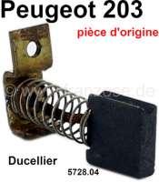 P 203, Lichtmaschine Kohle Ducellier (original Peugeot), per Stück. Passend für Peugeot 203. Or. Nr. 5728.04 - 73644 - Der Franzose
