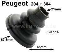 P 204/304, Antriebswellenmanschette getriebeseitig. Passend für Peugeot 204 + 304. Durchmesser: 21mm + 67,5mm. Höhe: 65mm. Or. Nr. 3287.14 - 73043 - Der Franzose