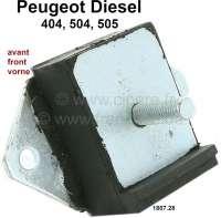 P 404/504/505, Motorhalterung vorne. Passend für Peugeot 404 Diesel, 504 Diesel, 505 Diesel. Lochabstand: 85mm. Or. Nr. 1807.28 - 71097 - Der Franzose