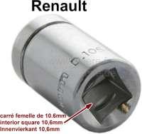 Ölwechselschlüssel (Nuss für Knarre) Innenvierkant 10.6mm. Für Ölablaßschrauben + Getriebeschrauben die einen Aussenvierkant haben. Renault R4 alte Modelle, 4CV usw. Original Facom! - 21022 - Der Franzose