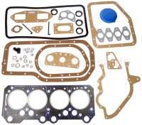 P 504/505/J5, Motordichtsatz (incl. Zylinderkopfdichtung). Passend für Peugeot 504, 505, J5. Benzin Motoren: XN1, XNA, XN2 ab Baujahr 1970. Der Dichtsatz ist ohne Wasserpumpendichtung! - 71076 - Der Franzose