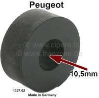 Kühler Silentgummi (Gummiblock unter der Kühlerbefestigung). Passend für Peugeot 204, 304, 403, 404, 504, 505. Innendurchmesser: 10,5mm. Durchmesser: 28mm. Bauhöhe: 12mm. Or. Nr. 1327.02 / Made in Germany | 72403 | Der Franzose - www.franzose.de