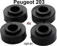 P 203, Kühler Silentgummi (4x). Befestigung Kühler unten. Passend für Peugeot 203. Or. Nr. 1327.01 | 72407 | Der Franzose - www.franzose.de