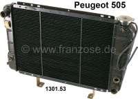 P 505, Kühler. Passend für Peugeot 505 Benziner mit Klimaanlage (2.0 TI, STI / 2,2 / 2,2 GTI), von Baujahr 09/1979 bis 05/1984. Or. Nr. 1301.53. New Old Stock (NOS) - 72388 - Der Franzose