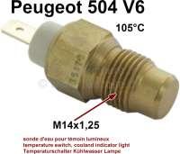 Temperaturschalter, für die Kühlwasser Warnlampe. Passend für Peugeot 504 V6. Peugeot 604 V6. Alpine. Gewinde: M14x1,25. Schaltpunkt bei 105° - 72545 - Der Franzose