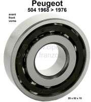 P 504, Radlager vorne. Abmessung: 20 x 52 x 15mm. Passend für Peugeot 504, von Baujahr 1968 bis 1976. Or. Nr. 3735.03 - 73359 - Der Franzose