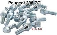Radmuttern (16 Stück) für Felge (73634). Passend für Peugeot 205 GTI | 73635 | Der Franzose - www.franzose.de