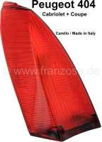 P 404, Rücklichtkappe rot. Passend für Peugeot 404 Cabriolet + 404 Coupe. Ausführung: Carello. - 74001 - Der Franzose