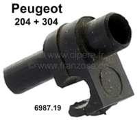 P 204/304, Halterung für den Scheibenwasserschlauch (Kunststoff). Passend für Peugeot 204 + 304. Or. Nr. 6987.19 - 75340 - Der Franzose