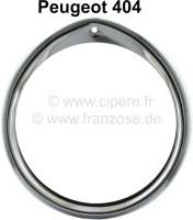 P 404, Scheinwerferzierring verchromt aus Metall! - 75213 - Der Franzose
