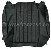 P 504, Kunstleder Farbcode 3000 (schwarz), Rückenlehnenbezug links, Sitzbank hinten. Peugeot 504. Or. Nr. 899483 - 78620 - Der Franzose