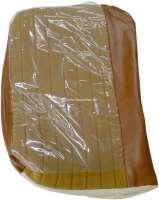 P 304, Kunstleder beige 3301-Stoff Pain doré 2312,Steppnähte, Sitzkissenbezug Sitz vorne links, Peugeot 304 Limousine außer USA.  Or.Nr.898055 | 78504 | Der Franzose - www.franzose.de