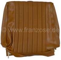 P 504, Kunstleder braun, mittig in Pfeifen abgenäht (perforiert).  Sitzlehnenbezug vorne (vorgerüstet für Kopfstütze). Passend für Peugeot 504. Or. Nr. 899017 - 78645 - Der Franzose