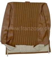 P 504, Kunstleder braun, mittig Rohrgeflecht Design.  Sitzlehnenbezug vorne (vorgerüstet für Kopfstütze). Passend für Peugeot 504. Or. Nr. 894930 - 78646 - Der Franzose