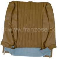 P 504, Kunstleder hellbraun, mittig in Pfeifen abgenäht (perforiert).  Sitzlehnenbezug vorne (vorgerüstet für Kopfstütze). Passend für Peugeot 504. Or. Nr. 898644 - 78644 - Der Franzose