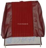 P 504, Kunstleder rot-braun, mittig Stoff dunkelrot, Rückenlehnenbezug Sitz vorne, Peugeot 504 Limousine, Or.Nr.898271 - 78565 - Der Franzose